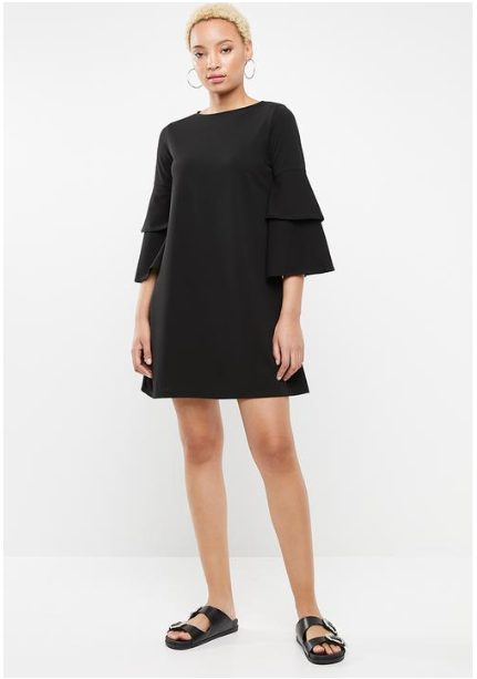 Superbalist Frill Sleeve Dress Closeup